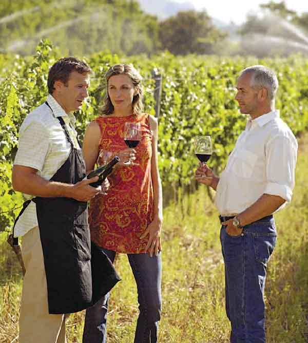 Vi besöker vingårdar