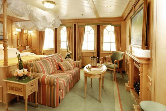 Hytt Kategori A Lido på segelfartyget Sea Cloud II