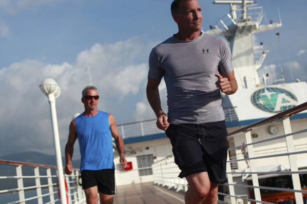 Jogging på kryssningsfartyget Azamara