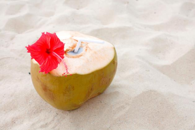 Kokosnät på stranden