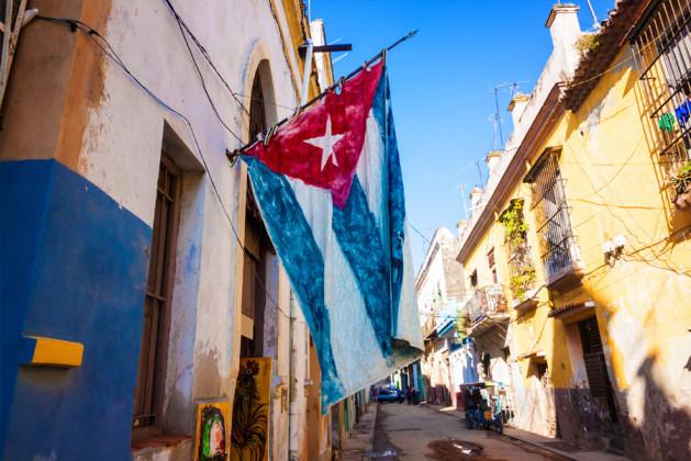 Gatubild från Kuba