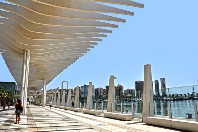 Nya hamnen i Málaga Spanien