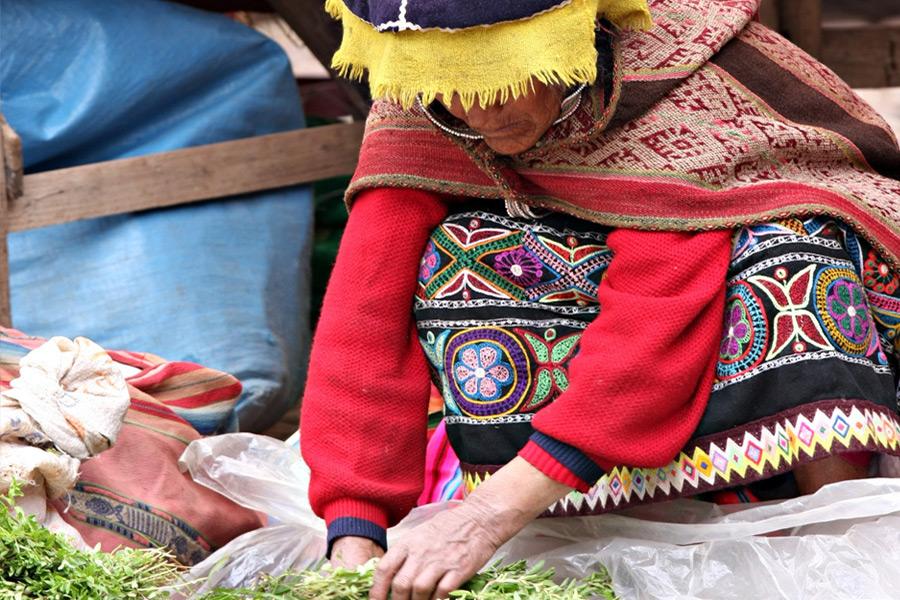 Kvinna i Peru