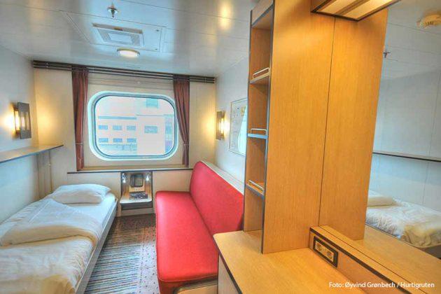 Utsideshytt U2 ombord på Hurtigrutens fartyg MS Fram.