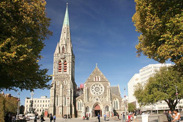 Katedralen i Christchurch Nya Zeeland