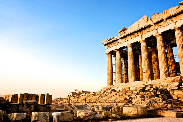 Akropolis i Aten, Grekland.