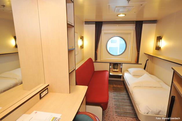Utsideshytt N2 ombord på Hurtigrutens fartyg MS Fram.