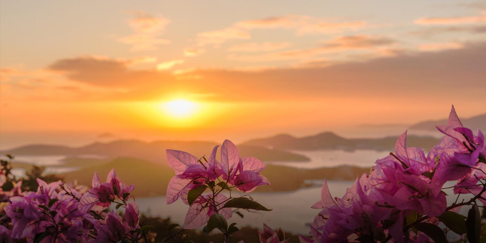 Solnedgång i Karibien