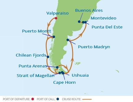Kap Horn Karta   Karta