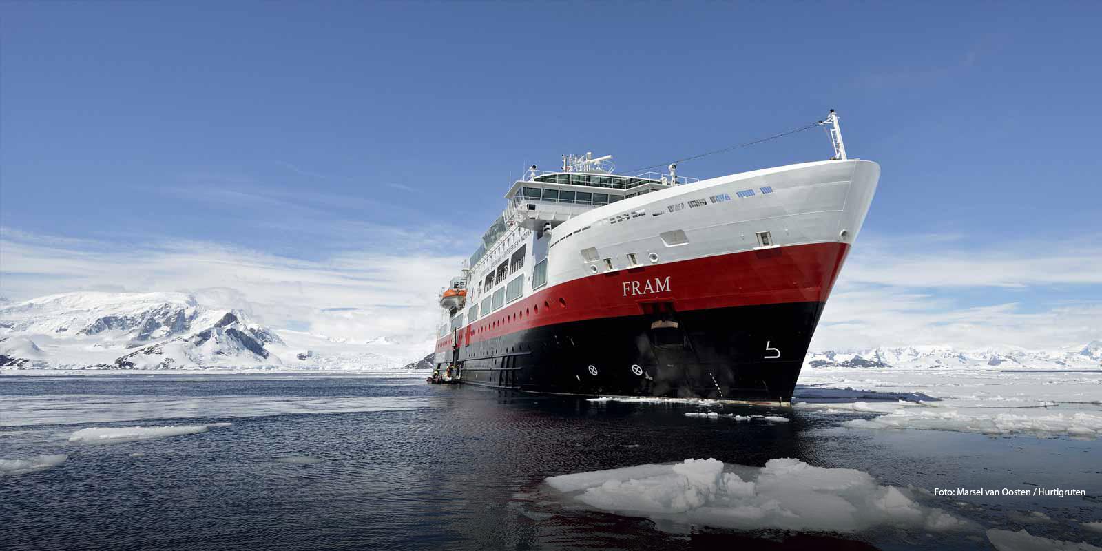 MS Fram Foto MArsel van Oosten / Hurtigruten