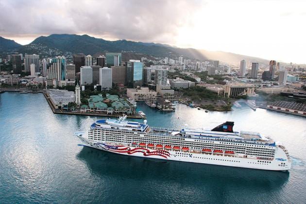 Kryssningsfartyget Pride of America Honolulu