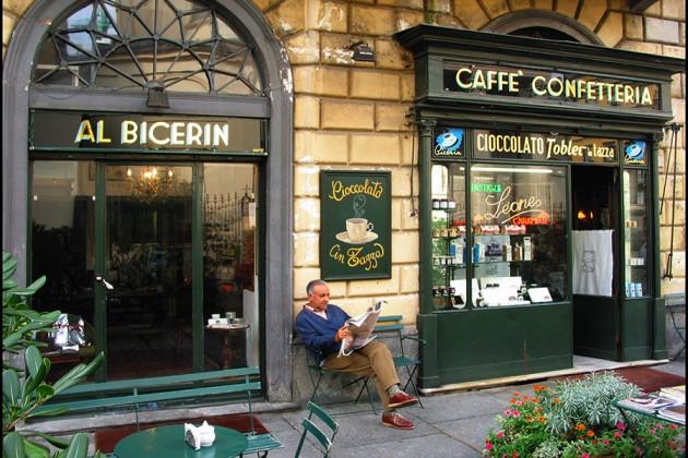 Stadsbild från Piemonte i Italien.