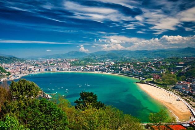 San Sebastián Baskien Spanien