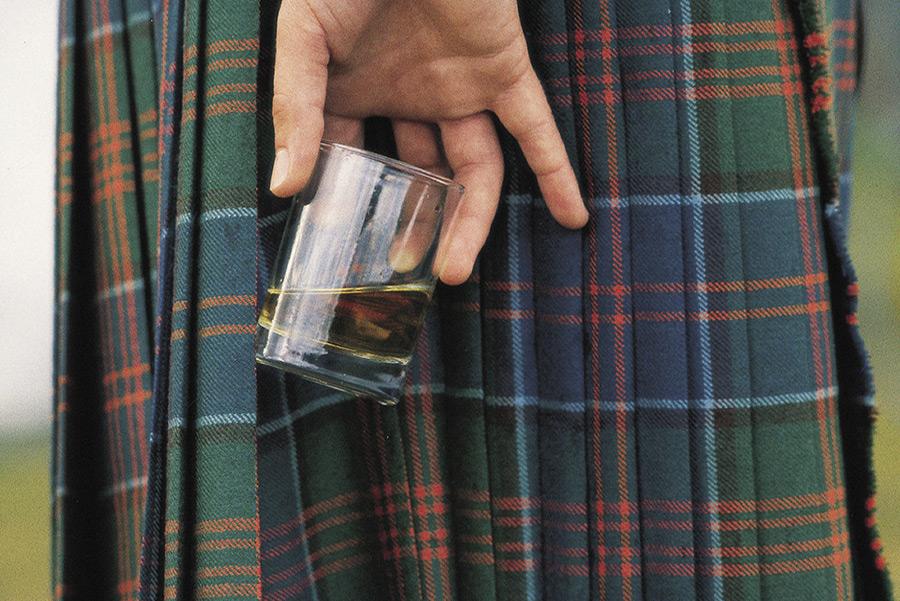 Skottland kilt whiskey