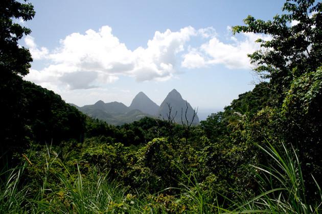 Frodiga St Lucia i Karibien.