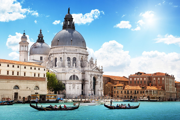 Gondoler Venedig Italien