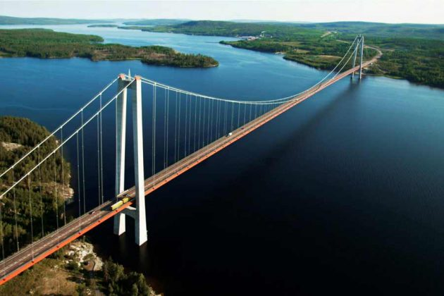 Höga kustenbron i Ångermanland, Sverige.