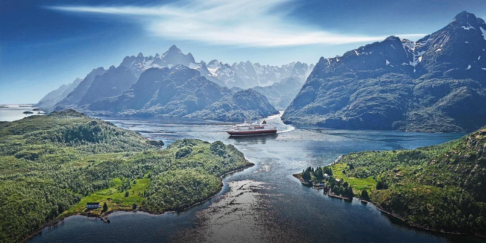 Hurtigruten Norge Fartyg Fjord