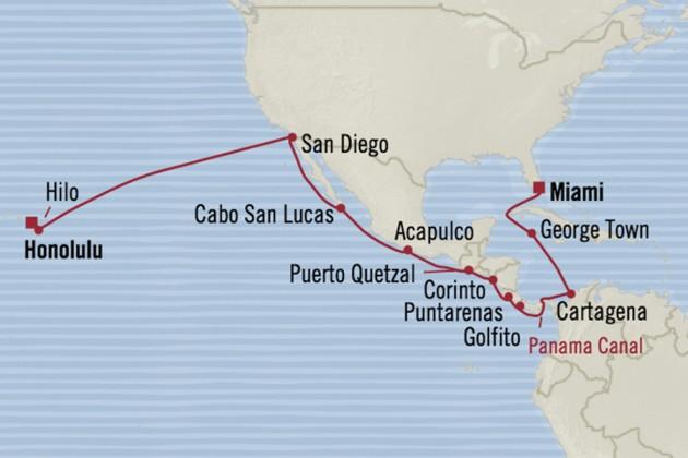 Panama kanalen Hawaii