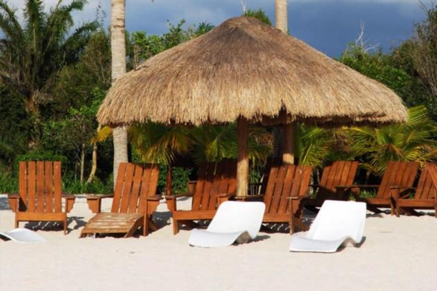 Strand på Cozumel i Mexiko