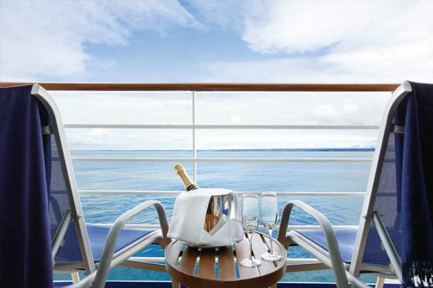 Champagne på kryssningsfartyget Oceania