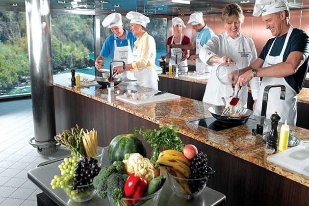 Kulinariskt center på kryssningsfartyget Oceania
