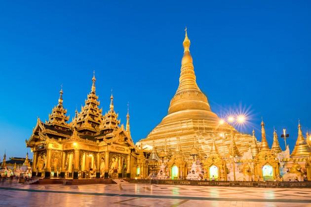 Shwedagon Pagoda i Yangon, Myanmar
