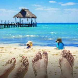 Strand i Karibien