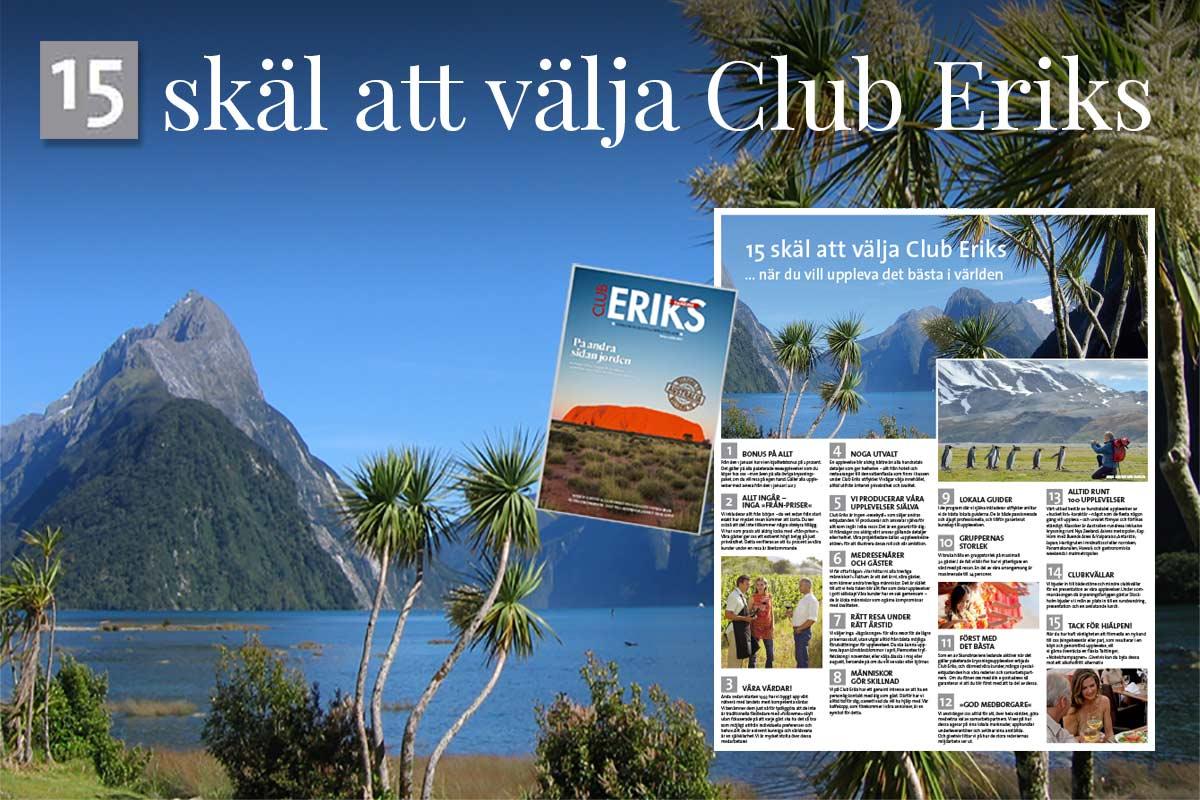 15 skäl att välja Club Eriks