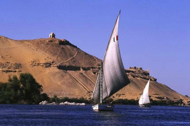 Segelbåt i Egypten