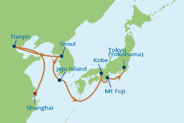 Kina Japan kryssning