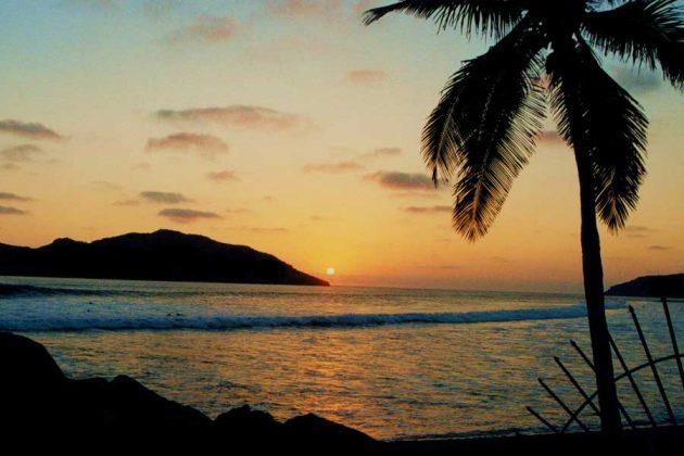 Mexiko Mazatlán strand solnedgang