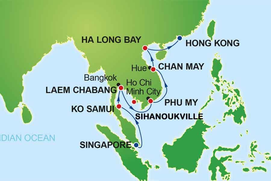Karta Asien NCL