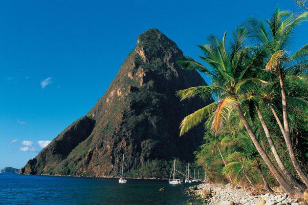 Petit Pitons på St. Lucia.