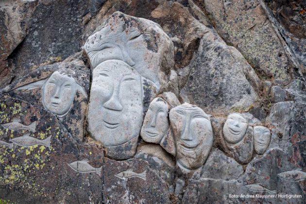 Qaqortoq-Gronland Stenansikte HGR