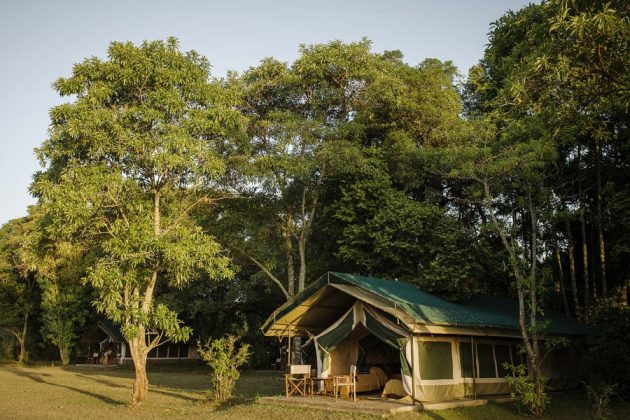 Ett av de tält som utgör Goveners Camp, Kenya.
