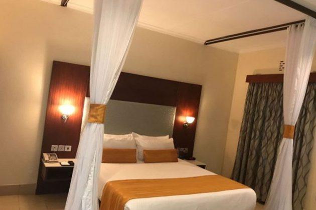 Från ett av rummen på Hotell Lake Naivasha, Kenya.