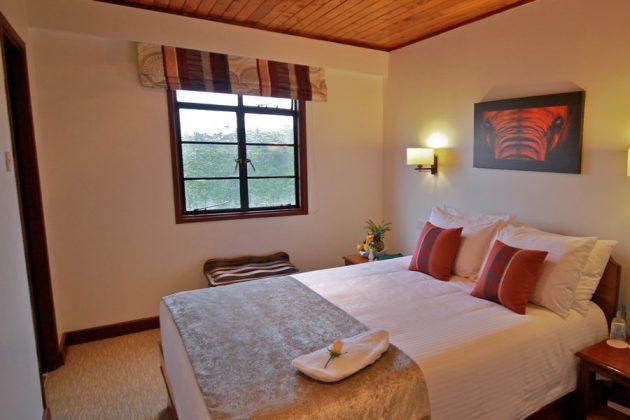 Ett av rummen på HotelThe Ark, Kenya.