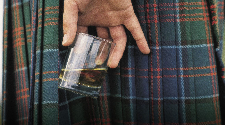 Skottland whisky kilt