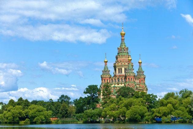 Uppståndelsekyrkan i St. Petersburg, Ryssland.