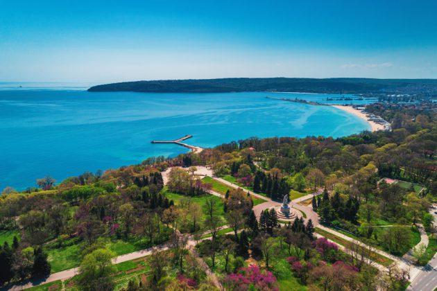 Parken Sea Garden i Varna, Bulgarien.