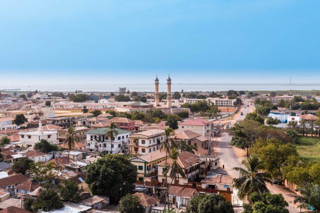 Panoramautsikt över Banjul i Gambia