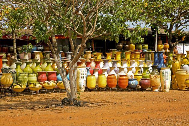 Keramikmarknad i Ghana