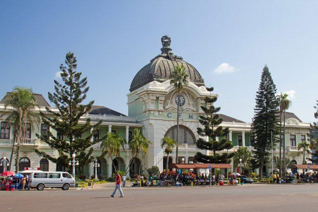 Tågstation i Maputo