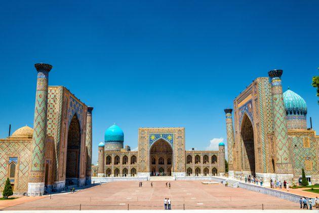 Registans torg i Samarkand, Uzbekistan