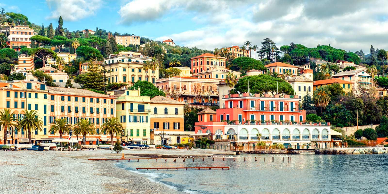 Vackra Santa Margherita i Italien.