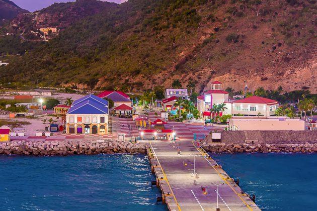 Kryssningshamnen på Grand Turk, Turks- och Caicos.